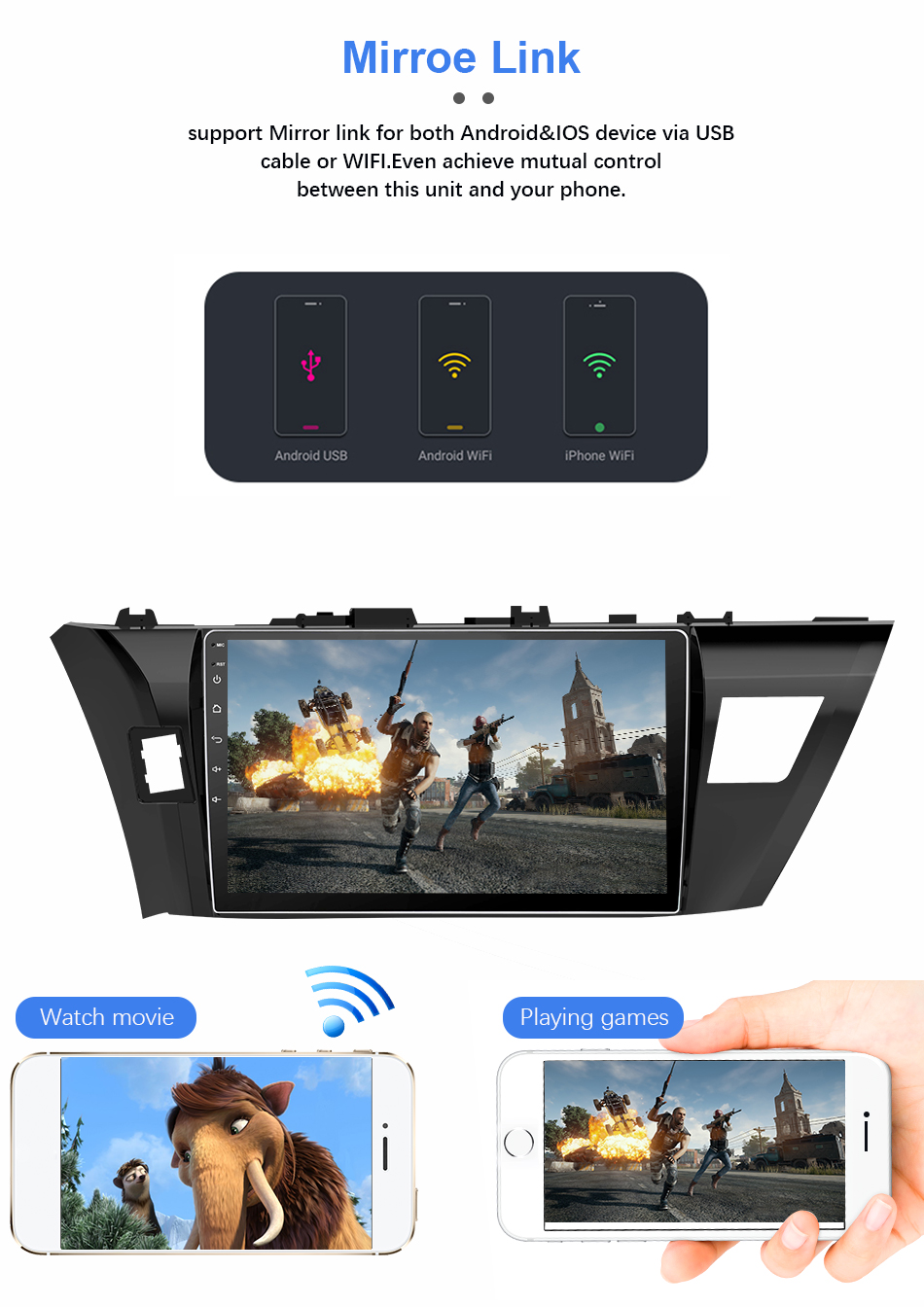 Flash Deal Eunavi 4G+32G Octa 8 core android 9.0 car dvd for Toyota Corolla E180 2013-2016 multimedia car radio gps navi PX6 Radio WIFI 11