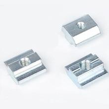 50 шт. 45-M8 T раздвижные гайки молоток слайд Гайка Блок 45-m8 квадратные гайки M8 Гайки для серии 4545 алюминиевый профиль застегнуть разъем