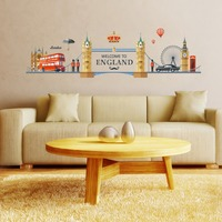 London Skyline Wall Decal City Silhouette England London Scape Wall Decal Murals Living Room Office Wall Art Rotterdam Skyline
