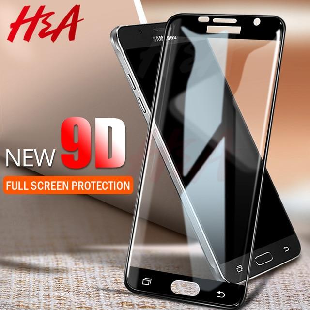 H & 9D изогнутая Защитная Стекло на для samsung Galaxy A3 A5 2017 A6 A8 J4 J6 плюс 2018 закаленное Экран J8 A8 протектор Стекло