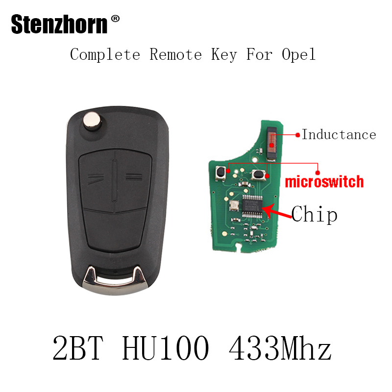 Stenzhorn 2Buttons PCF7946/PCF7941 Chip Remote Key For Vauxhall Opel Astra H Zafira B 2005 2006 2007 2008 2009 2010 433Mhz key big discount 1 piece 4 1 button remote key card with 433mhz for land rover freelander 2 2006 2007 2008 2009 2010