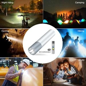 Image 5 - USB Rechargeable Simple creative LED Flashlight Aluminum alloy Focus 3 lighting modes 200 meters illumination distance