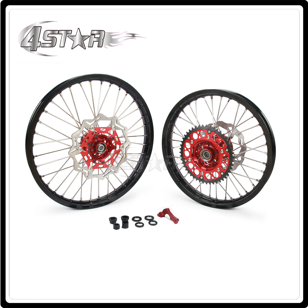 Мотоцикл обода колеса ступицы комплект 1.6*21 2.15*18 для Honda CR125 CR250 CRF250R CRF250X CRF450X 2CRF450R