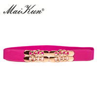 Luxury Golden Chain Belts For Women Belt For Dress Thin Elastic Waistband Brand Designer Elegant Wedding
