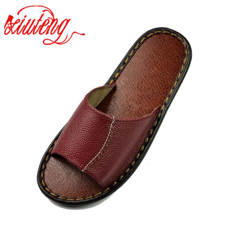 2017 Womens Leather Slippers Floor Summer Sandals High Quality Women Slip Deodorant And Fashion House