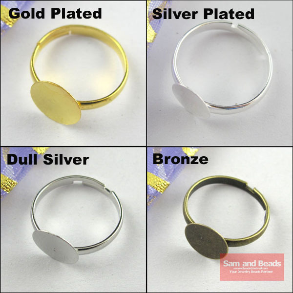 40pcs 10mm Pad Diy Silver Gold Bonze Nikel Ring Base Anillo Adjustable Ring Blanks Glue On Cabochon Rings Findings 40pcs 10mm Pad Diy Silver Gold Bonze Nikel Ring Base Anillo Adjustable Ring Blanks Glue On Cabochon Rings Findings