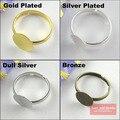 40 шт. 10 мм накладки для самостоятельного изготовления серебряных и золотых колец Bonze Nikel, Регулируемые заготовки для колец, клей для кольца с ...