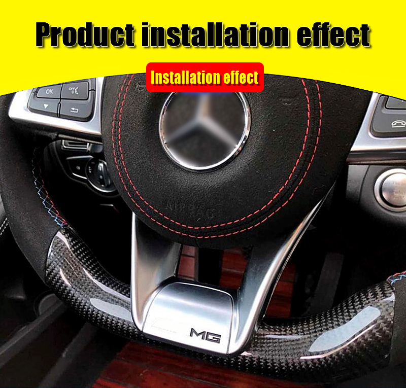 W218 Steering Wheel Low Covers plate ABS silver For Benz CLS W218 CLS350 CLS400 CLS500 Steering Wheel Low Covers B Style 2012 in in Steering Wheels Horns from Automobiles Motorcycles