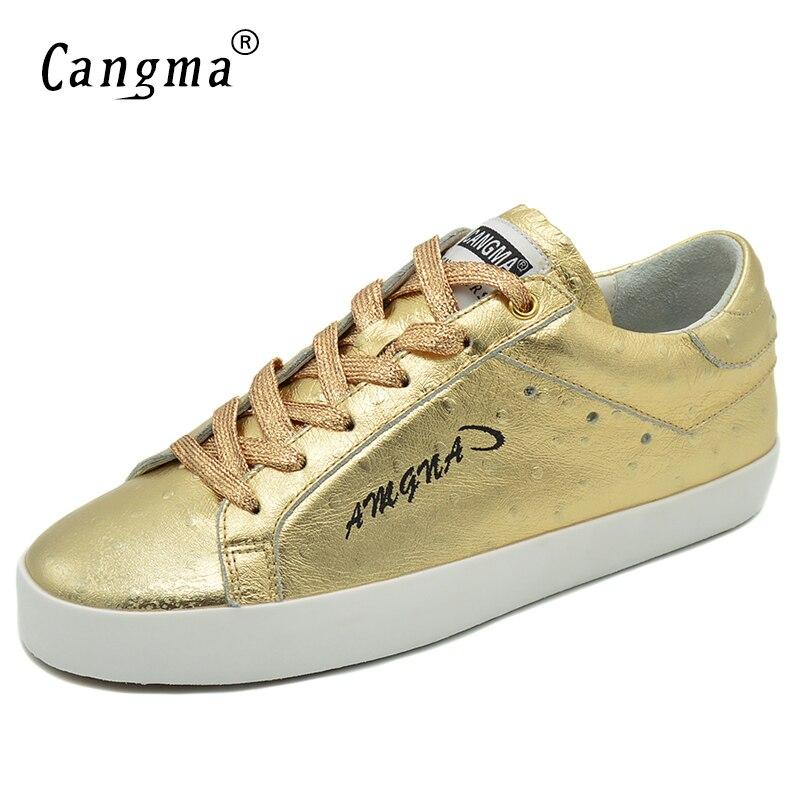 Turnschuhe Luxus Leder 2017 Retro Wohnungen Retro Cangma Gold Patent Mit Echtem no Mädchen Plattform Frauen Atmungsaktive Weibliche Schuhe 7YRnnASqd