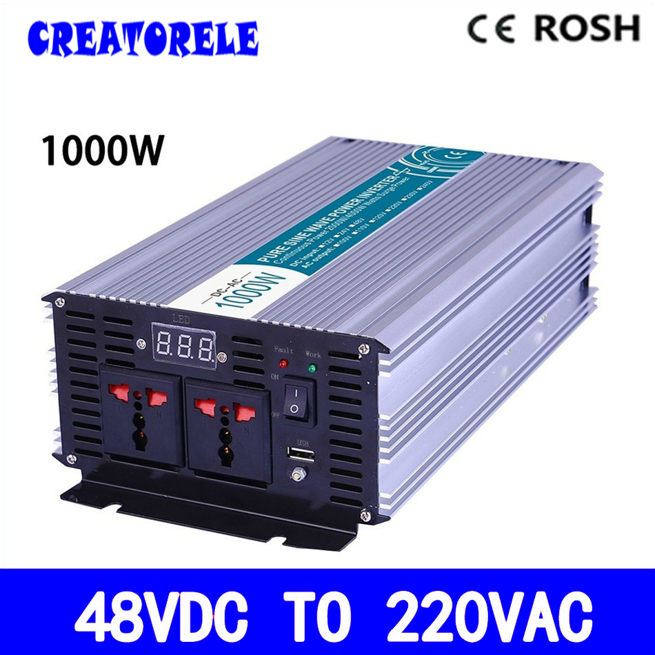 P1000-482 48v to 220vac power inverter 1000w  inverter pure sine wave voltage converter,solar inverter LED Display 6es5 482 8ma13