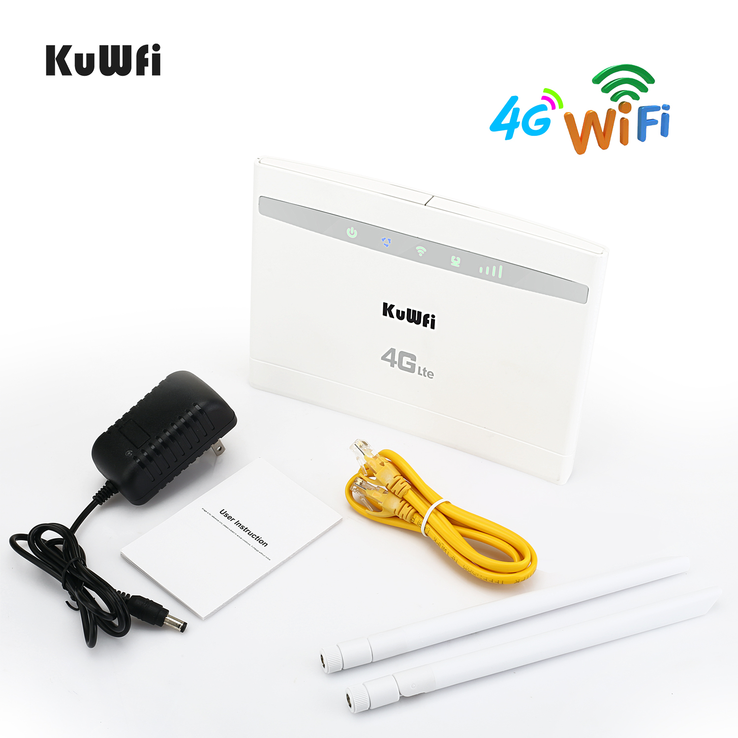 Image 5 - KuWfi 4G LTE Router 150Mbps Wireless CPE Router 3G/4G SIM Card Wifi Router Support 4G to Wired Network up to 32 Wifi Device-in 3G/4G Routers from Computer & Office
