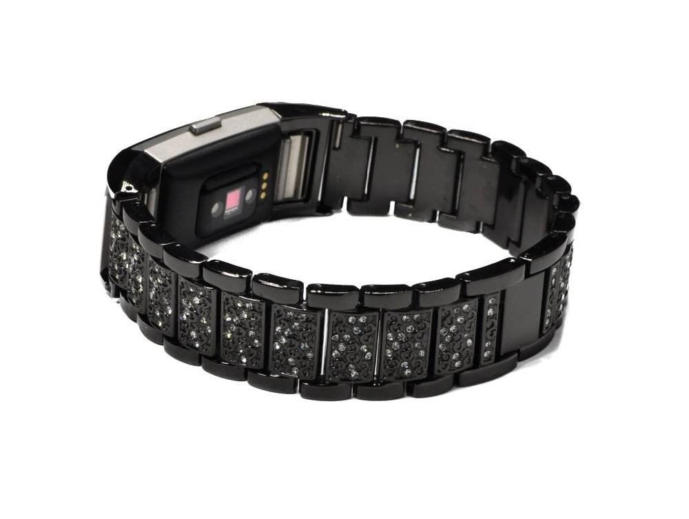 XG268 Watchband for fitbit charge2 Stainless Steel Crystal Rhinestone Diamond Watch Band Luxury Bracelet Strap