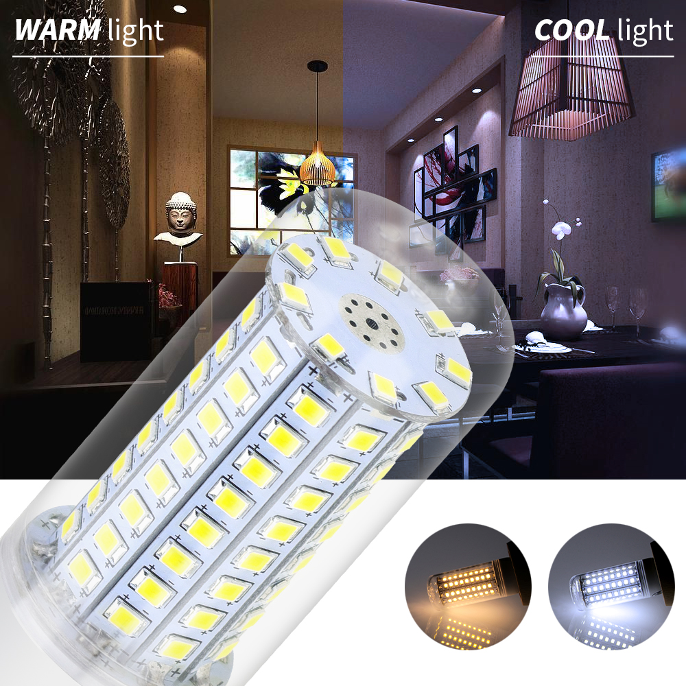 Led Light 220V E27 Led Candle Lamp E14 Led Corn Bulb 30 36 48 56 69 89 102leds High Quality Luminaria Incandescent Lighting 240V