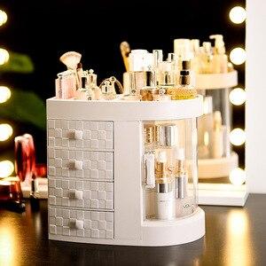 Image 3 - 2019 Donne Calde di Vendita bagno scatola di immagazzinaggio cosmetici e antipolvere bagno Grande organizzatore di trucco cura della pelle scatola di immagazzinaggio di monili canterani