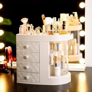 Image 3 - 2019 Hot Sale Women bathroom cosmetics storage box and dustproof bathroom Large makeup organizer skin care jewelry storage drawe