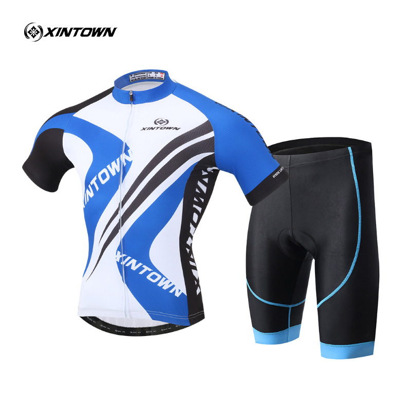 XINTOWN Brand Mens Bicycle Wear MTB Cycling Clothing cycling sets Bike uniform Cycle shirt Summer Male cycling jersey set xintown new 2018 spring cycling jersey set long sleeve 3d gel padded sets bike clothing mtb protective wear cycling clothes sets