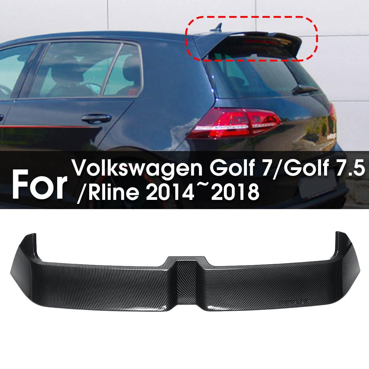 Becquet Style Fiber de carbone aile de toit pare-brise ailes de coffre pour Volkswagen Golf 7/Golf 7.5/Rline 2014 ~ 2018
