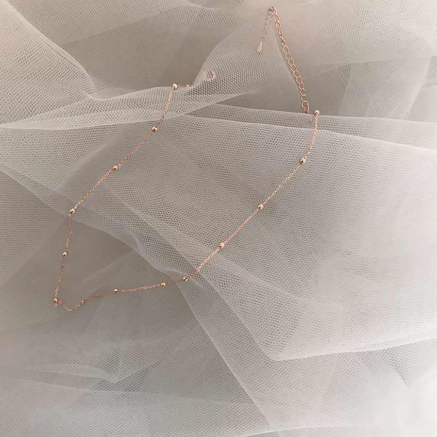 اليابان الكورية بسيطة Vintage ارتفع الذهب المغلفة الفاصل مطرز قصيرة المختنق قلادة للنساء الفتيات حفل زفاف حلية مجوهرات
