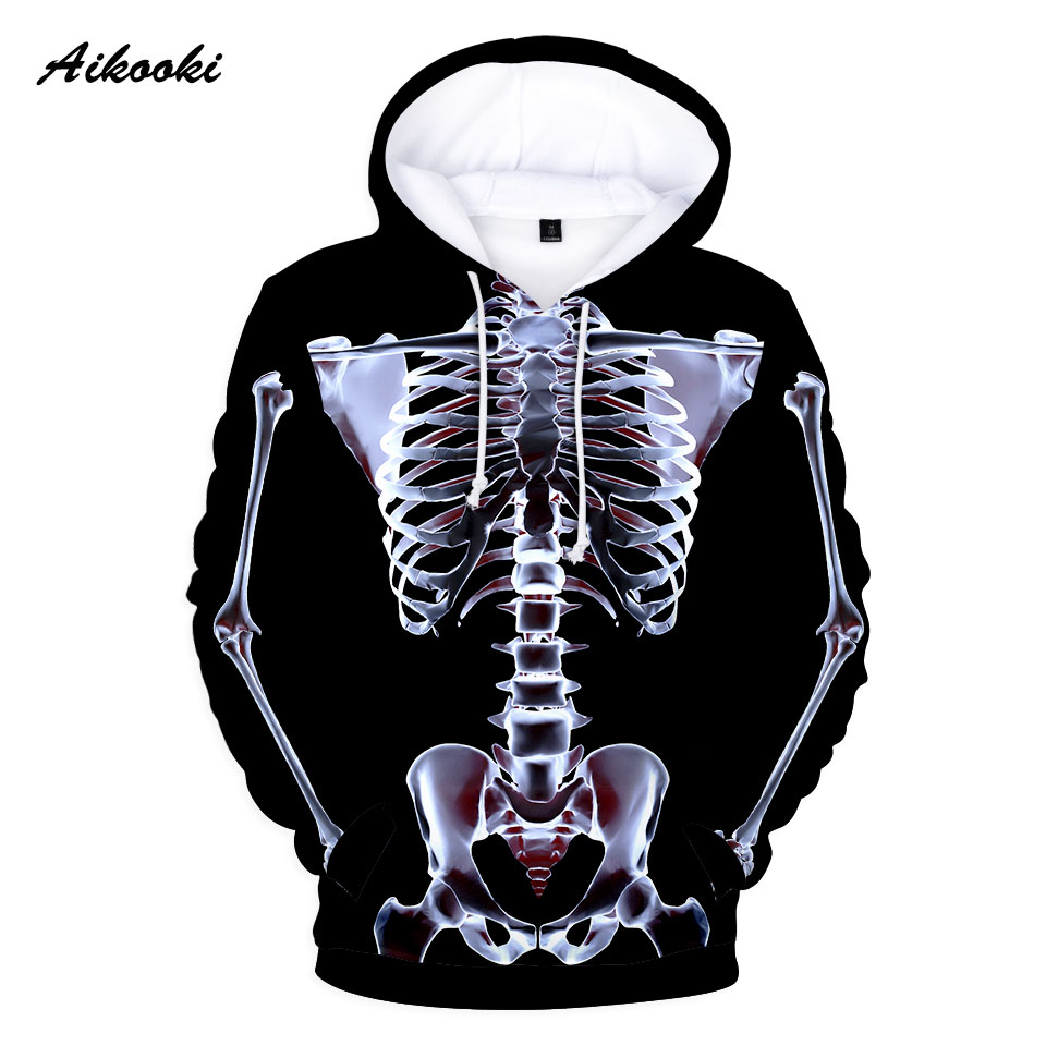 2019 Hot Sale Hoodies For Men/Women Graphic Skeleton Skull 3D Halloween Boy/Girl Long Sleeve Autumn Winter Warm Fashion Clothes