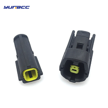 цена на 2sets 1pin AMP Tyco male female waterproof wire connector auto electrical plug 174879-2 174877-2