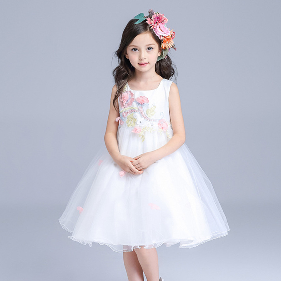 6e7a94a4bfd9 Beautiful Birthday Girls Dress Child White Flower Girl Vestidos ...
