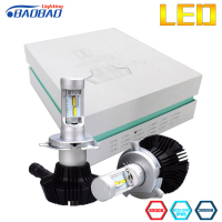 BAOBAO 7G Car Headlight Bulbs Kit Lumileds Chips 8000lm Super Bright H4 H13 9007 H7 H11 9005 9006 80W White 6500K LED Fog Lamp