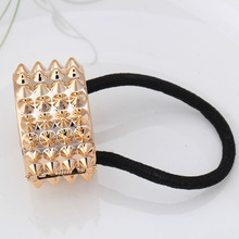 2019 New Fashion Punk Jewelry Hairwear Hair Rope Ponytail Holder Hairbands Cycles Hair Accessories women Elastic Hair bands