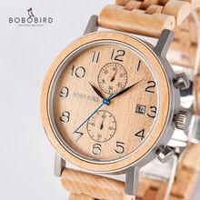 36c040b530be Reloj Masculino BOBO pájaro de madera relojes de los hombres de marca de  lujo de la