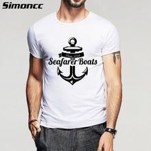 2016 Hot Fashion t shirt Men Summer Casual Clothes Boy sea anchor Printed funny Tee Shirt homme Short Sleeve Cotton Tshirt S-5XL