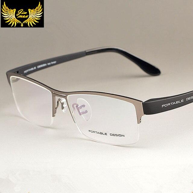 2016 New Arrival Men Style Titanium Alloy Half Rim Eye Glasses Fashion Design Men's Eyeglasses Casual Optical Frame for men