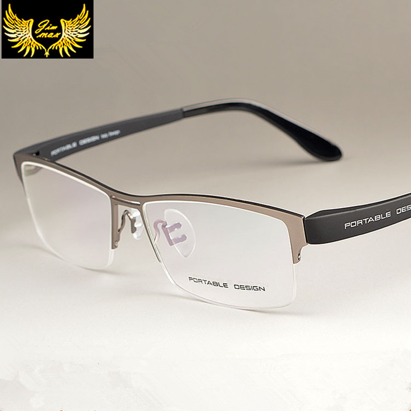 New Arrival Menn Style Titanium Alloy Half Rim Eye Briller Mote Design Menns Briller Casual Optisk ramme for menn