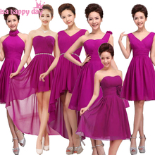 different styles bridesmaid dressed chiffon a line bridemaid dark purple  party dress greece petite best of f79f63d887ba