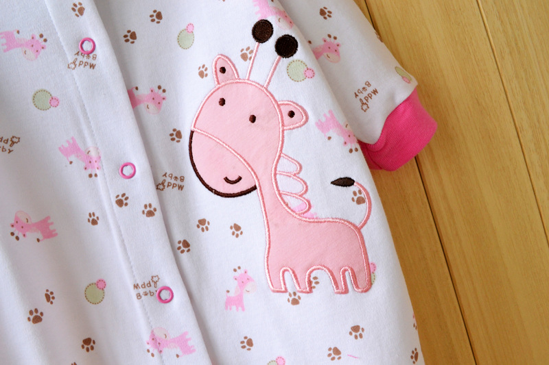 17 New spring cartoon baby rompers cotton 100% girls and boys clothes long sleeve romper Baby Jumpsuit newborn baby Clothing 4