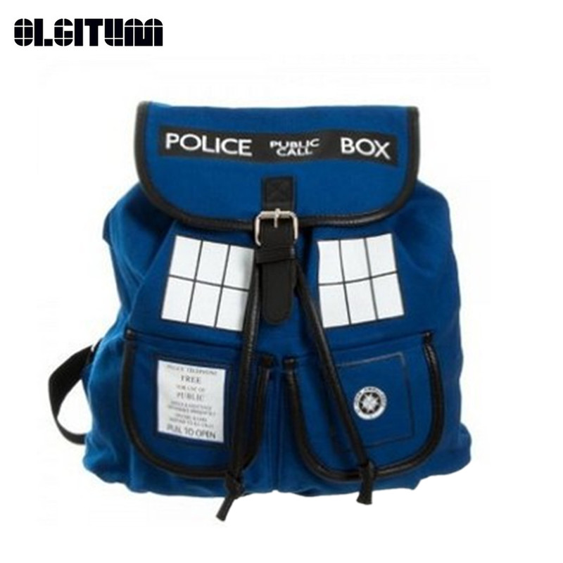 New Fashion 2018 Backpack women Buckle Slouch Doctor Who Bag Women Backpack School Bags for Teenagers Children Kids SC221