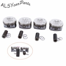 KEOGHS OEM 82.5mm Engine Pistons & Piston Rings Assembly Pin 23mm 06H 107 065 DD For VW Jetta Passat Golf Audi A4 A5 Q5 2.0TFSI je pistons 314438 piston set of 4