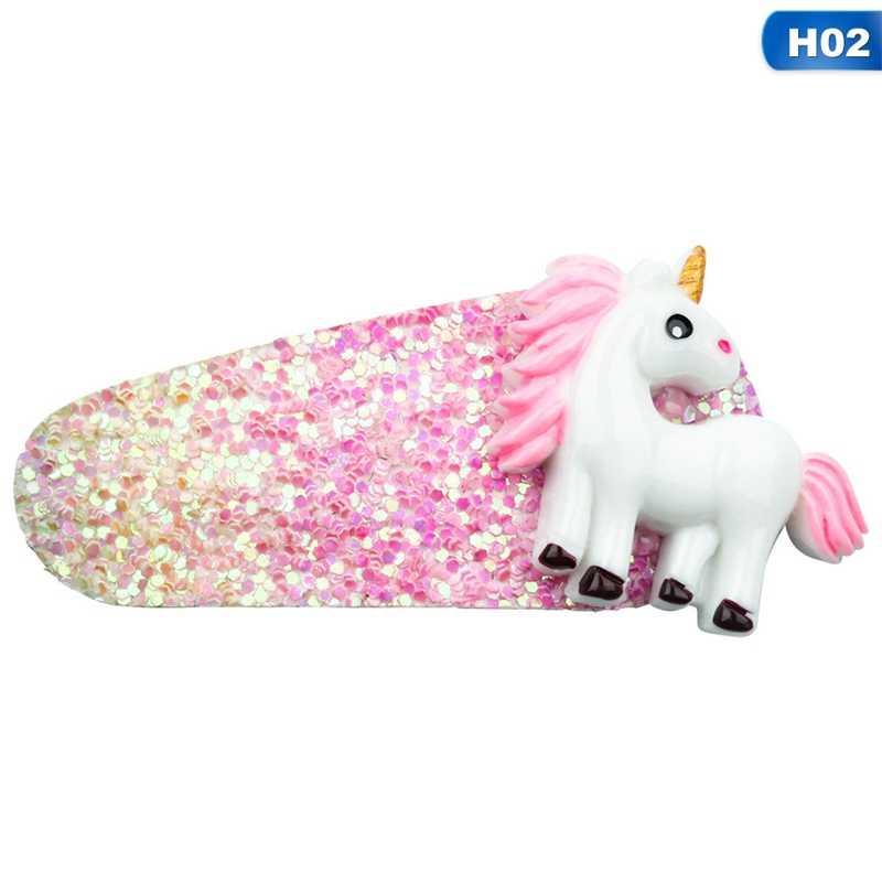 1 Pcs Leuke Glitter Eenhoorn Haar Clip Kids Mermaid Haarspelden Boutique Haarspeldjes voor Party Meisjes Haar Accessoires