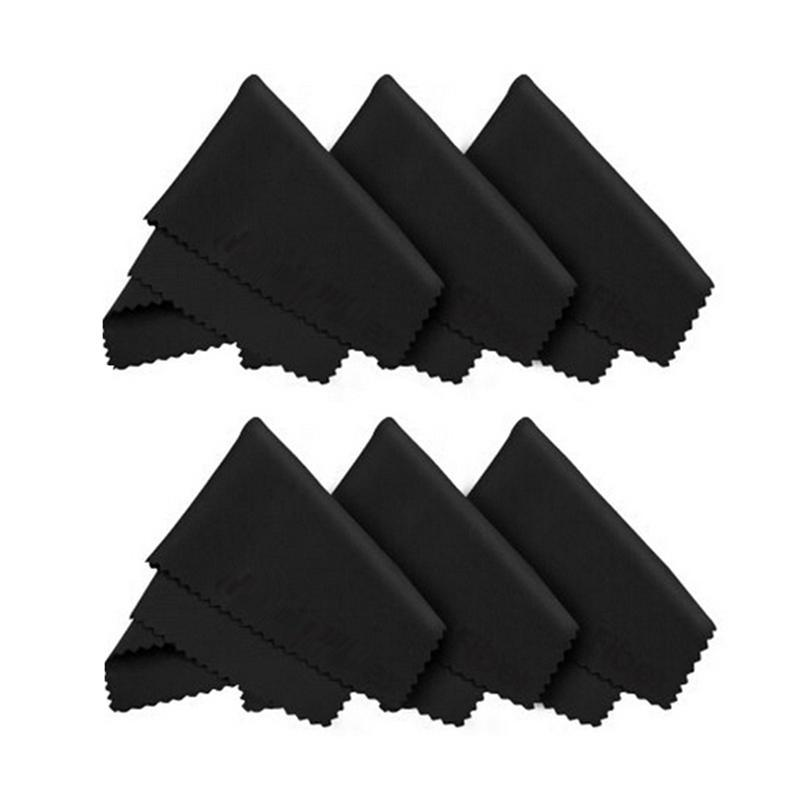 6pcs Microfiber Cloths for Eyeglasses Screens Lenses iPad Tablets iPhone Phones Laptop LCD TV and other Delicate Surfaces