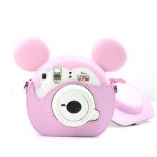 Loverly PU Leather Camera Bag Strap Case For Fujifilm Instax TsumTsum Polaroid Camera Portector