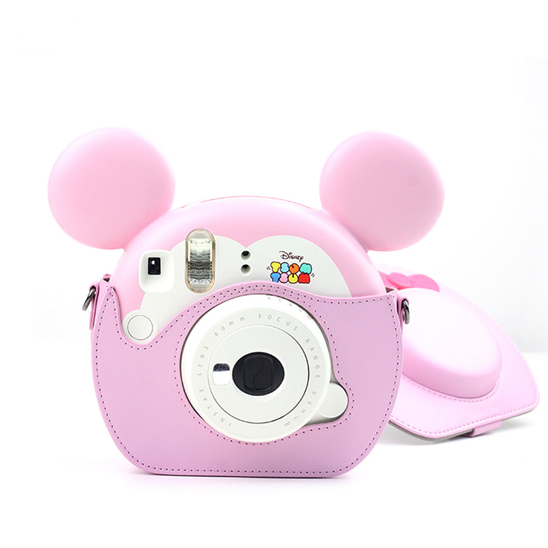 Loverly PU Leather Camera Bag Strap Case For Fujifilm Instax TsumTsum Polaroid Camera Portector