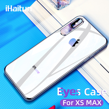 iHaitun Luxury Glass Case For iPhone XS MAX XR X Cases Soft Side Ultra Thin Cover 10 Transparent Back
