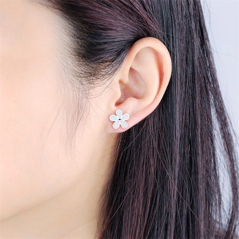 stud white platinum earring over buy silver online real sterling product flower diamond