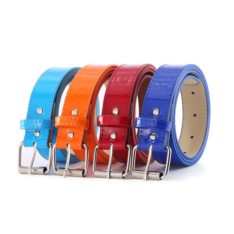 High Quality PU Faux Leather Casual Women Belt Colorful Black White Blue Red Yellow Orange Female Belts Strap Ceinture Femme