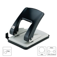 Monumented heavy duty double hole punch metal 2 manual 6mm 40  9760