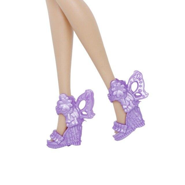 12 Pairs Scarpe Da Bambola di stile Della Miscela di Alta Tacchi Alti Sandali Stivali Scarpe Assortiti Colorati Accessori Per Barbie Bambola Del Bambino di Natale FAI DA TE giocattolo 3