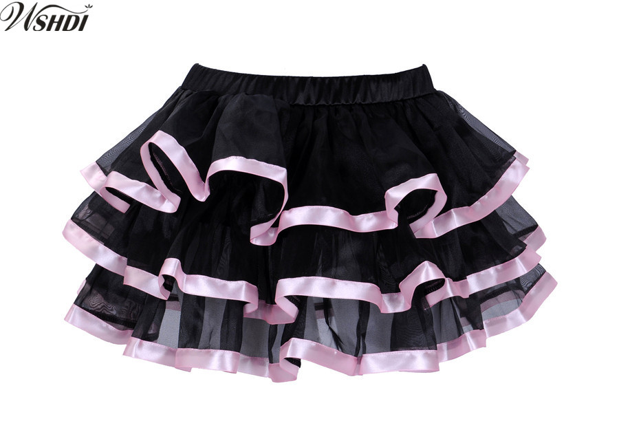 Sexy Black Mesh Ruffles Multilayer Mini tutu Skirts Party Showgirl Dance Wear Skirt Pettiskirt Costumes S-XXL