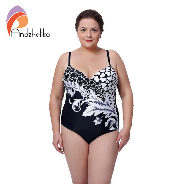 4XL-8XL Plus Size Swimwear Sexy One Piece Swimsuit Floral Print High Waist Large Cup Push Up Swimsuit maillot de bain LD362