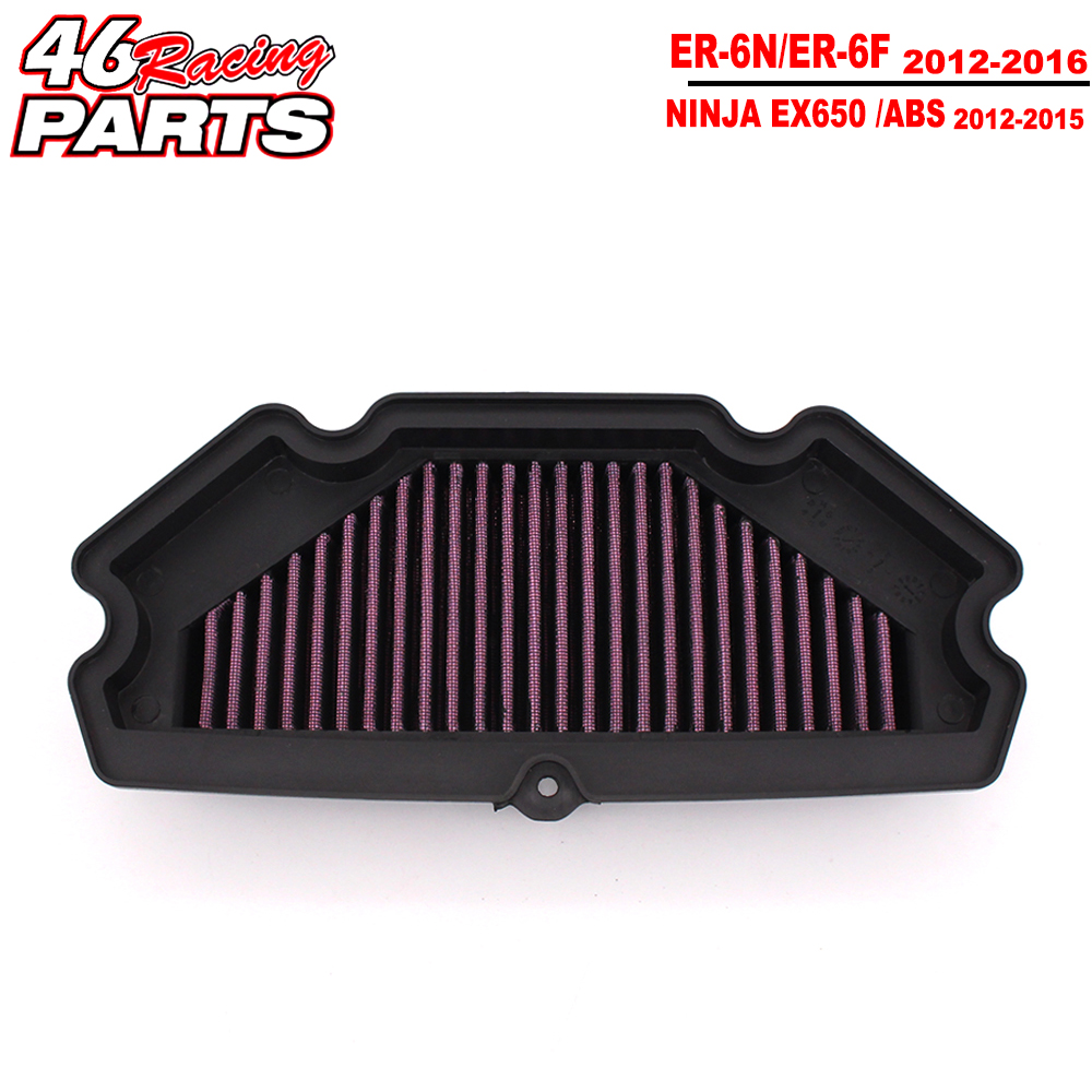 CK CATTLE KING High Quality Motorcycle Air Filter For KAWASAKI NINJA ER 6N/6F ER6N ER6F EX650 ER-6N/ER-6F 2012 2013 2014-2016 motorcycle motorbike aluminum radiator cooler for kawasaki ninja er6n er 6f 650r ex650 c er 6n er650c 2009 2011 2010