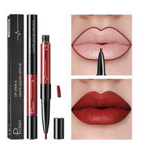16 color liquid lipstick matte durable waterproof non-stick cup two-in-one double lip gloss pen nude makeup lip liner shiny make 7 color makeup matte liquid lipstick waterproof flash lip color non stick cup does not fade matte lip gloss fenty beauty make up