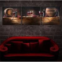 איכות גבוהה 3 Set חם למכור מודרני ציור קיר דקורטיבי אדום יין לאמנות מודרני תמונת אמנות תמונה בהדפסי בד זול