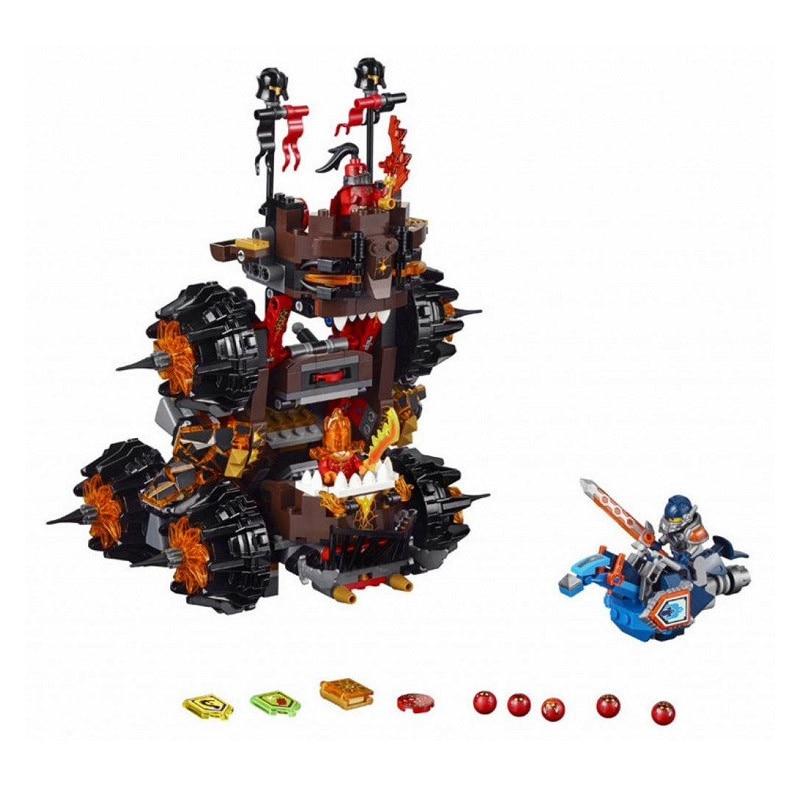 Lepin Pogo Bela 10518 Nexus Knights Siege Machine Models Building Blocks Bricks Comaptible Legoe Toys Gifts for Children lepin 75826 pogo bela 10510 879pcs birds king pigs castle models building blocks bricks comaptible legoe toys gift for children